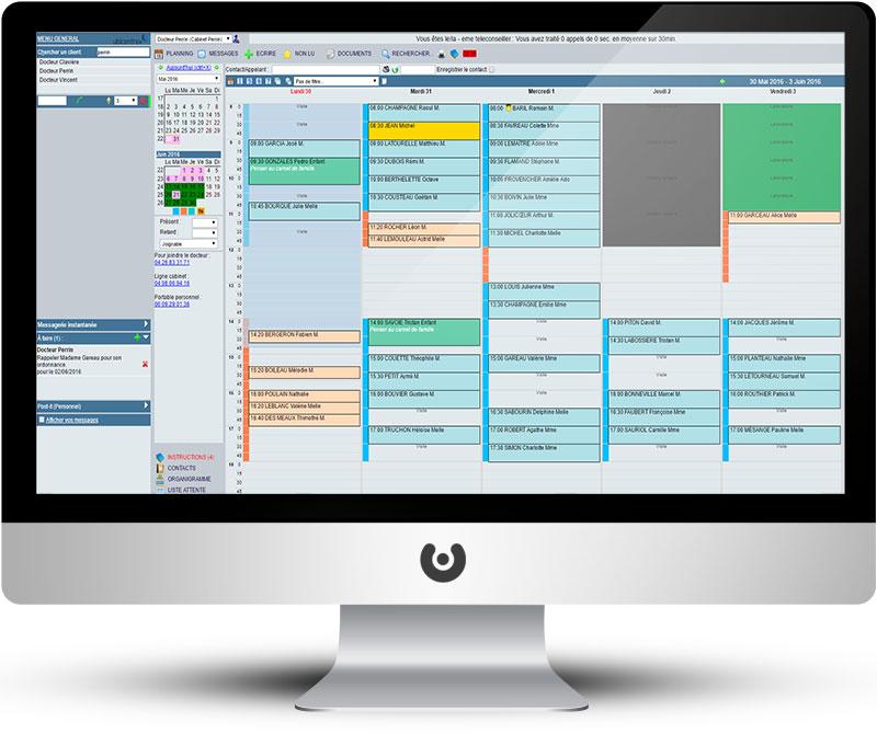 interface agenda planning logiciel