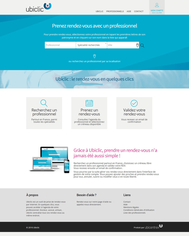 Prise de rendez-vous par Internet Ubiclic